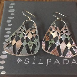 Silpada Sterling Silver Hammered Dangle Earrings